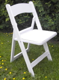 Rental store for Chair, White Resin Padded in Bloomington IL