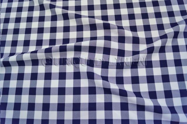 Where to find Poly Gingham Checker Navy White 90x156 in Bloomington
