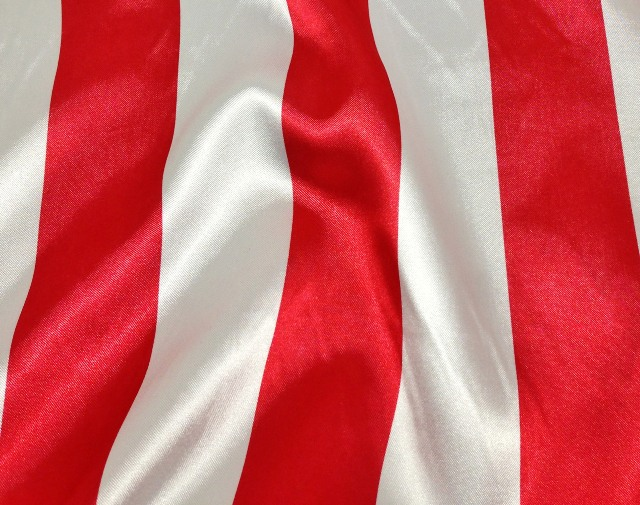Where to find Charmeuse Satin Red White Stripe 90x156 in Bloomington